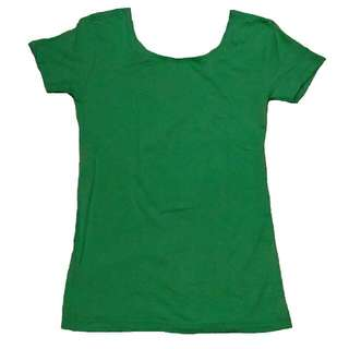 Low Back Green Top