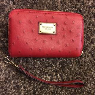 Red Michael Kors Wristlet