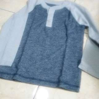 No Brand Long Sleeve Grey Tees