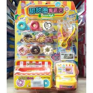 🚚 韓版甜甜圈專賣店 甜甜圈收銀機 收銀機玩具扮家家酒 ST安全玩具