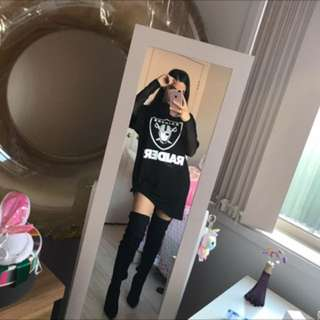 raiders oversize tee / tshirt dress