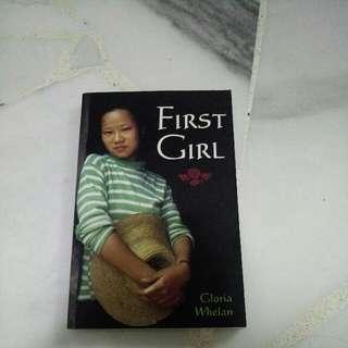 First Girl By Gloria Whelan