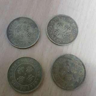 香港英女王5毫2套$50,77年至80年