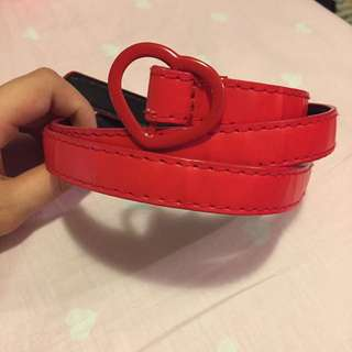 Bright red belt