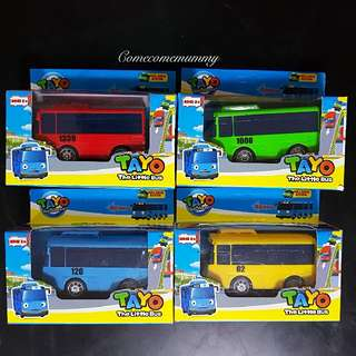 In stock!!! Tayo Pull And Go Buses