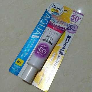 NEW Biore UV Aqua Rich Watery Cream SPF 50+/PA+++ Whitening 33gr