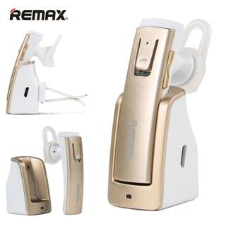 Remax RB-T6C Bluetooth 4.1 Car Wireless Stereo Headphone with Car magnet Adsorption Charging Base - Gold