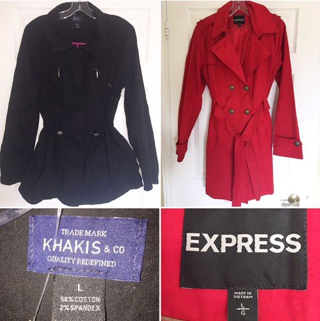 2 Fall Coats (L)