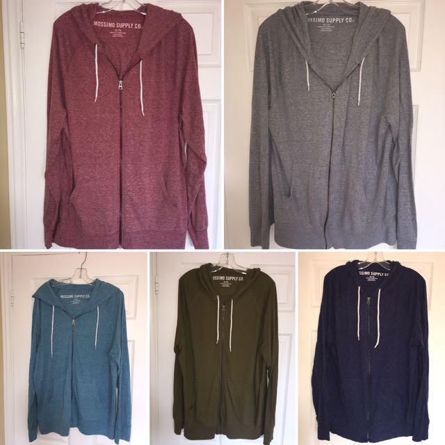 5 Zip Up Hoodies (XL)