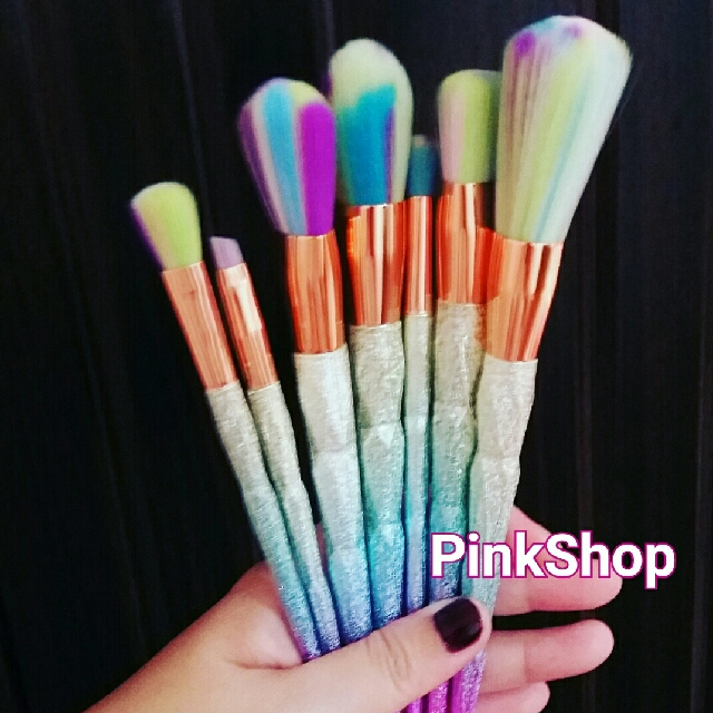 7 Pcs Unicorn Makeup Brushes