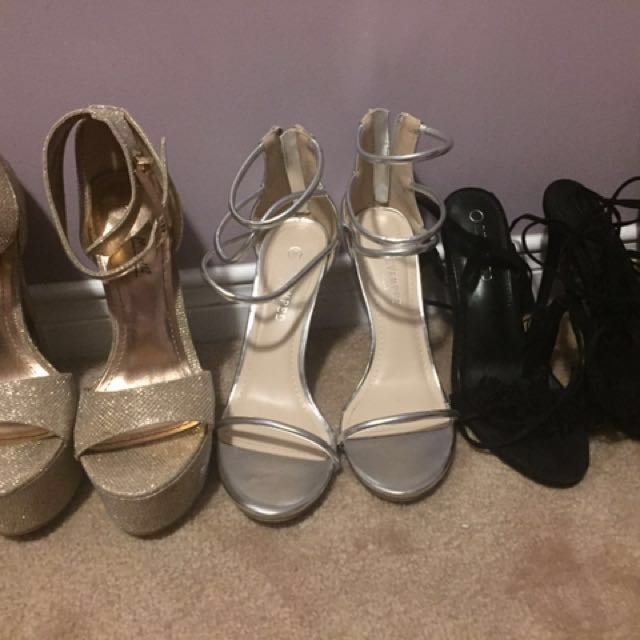 9 pairs of size 8 shoes for sale