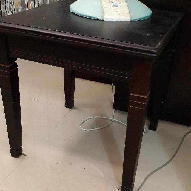 古典棕床邊桌茶几小桌子
