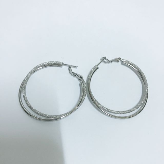 韓 雙圈耳環