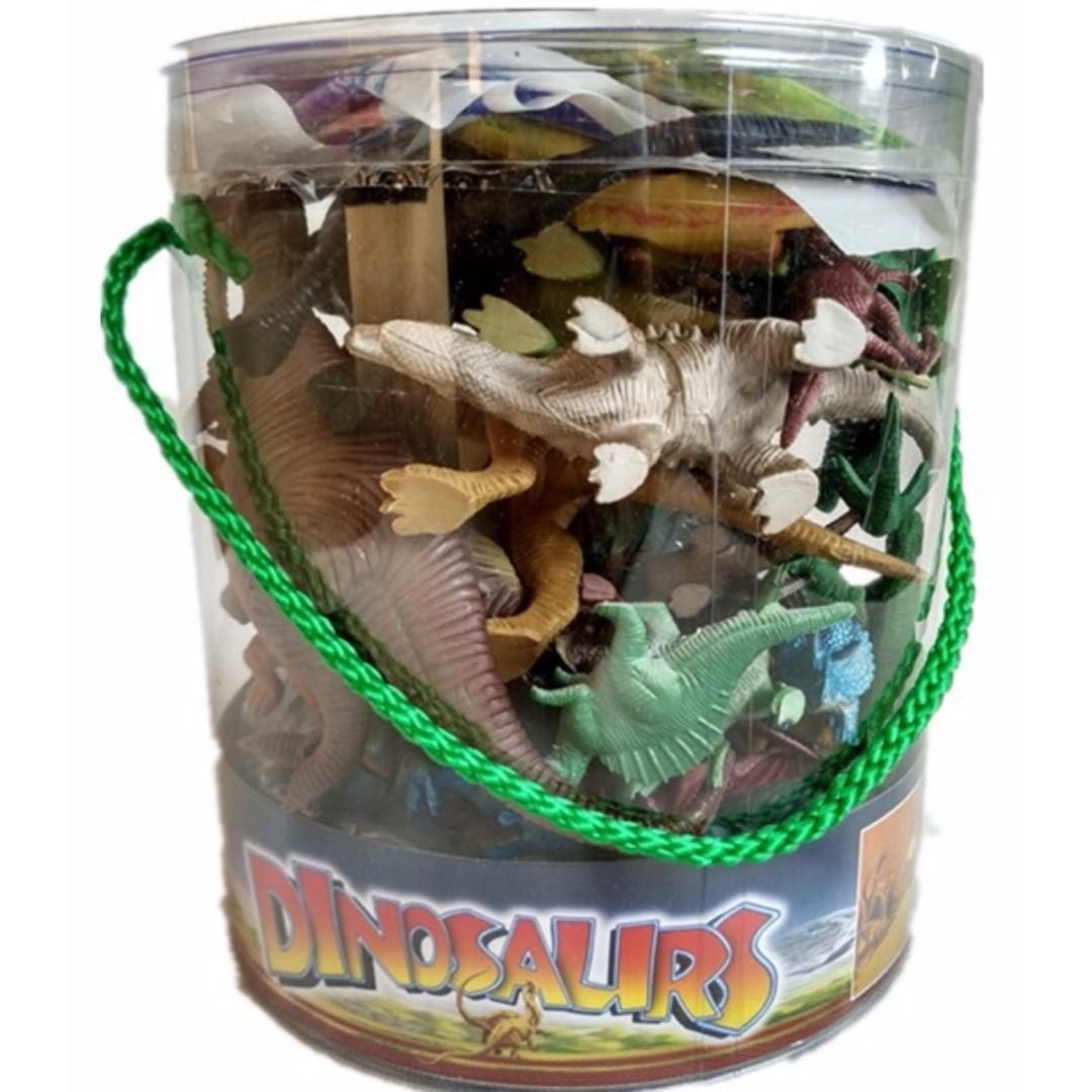 仿真動物模型 大桶裝恐龍模型恐龍玩具
