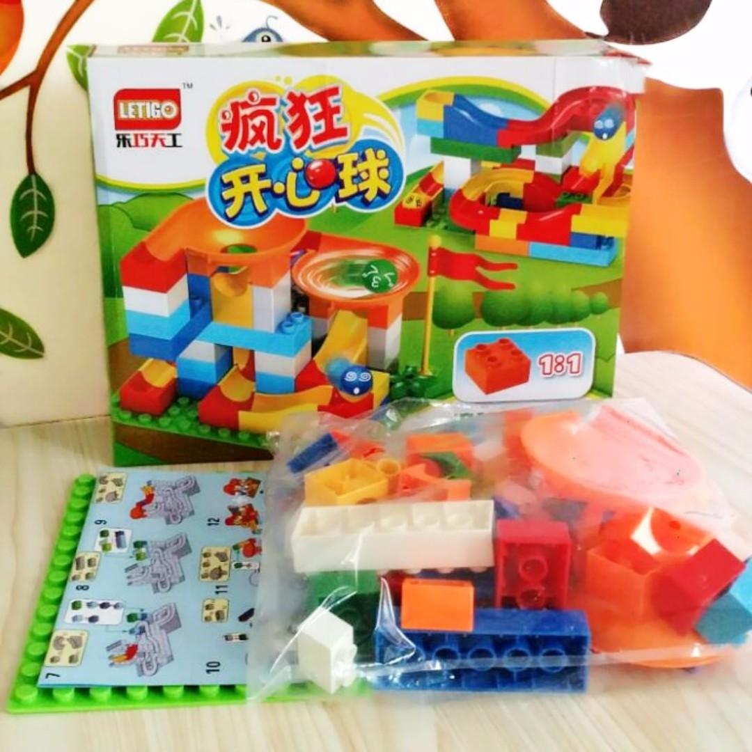 瘋狂開心球 大顆粒積木 滾球軌道積木 益智玩具