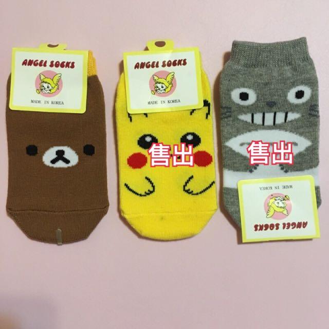 (全新現貨)韓國代購 兒童襪 皮卡丘 拉拉熊 龍貓 卡通襪