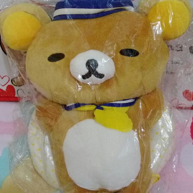 稀有品 海軍 泳圈 悠閒懶姿 大尺寸 請人從日本帶回 景品 Rilakkuma 拉拉熊 懶懶熊 輕鬆熊 鬆弛熊 啦啦熊