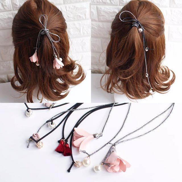 💃🏻韓版 百搭 簡約 馬尾 頭飾 髮圈 橡筋圈 Rubberband (9款顏色選擇)