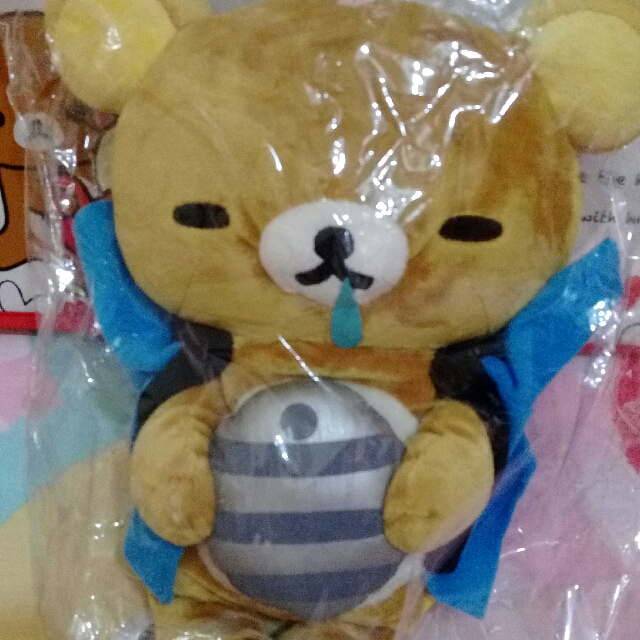 稀有品 感冒流鼻涕 抱熱敷袋 大尺寸 請人從日本帶回 景品 Rilakkuma 拉拉熊 懶懶熊 輕鬆熊 鬆弛熊 啦啦熊