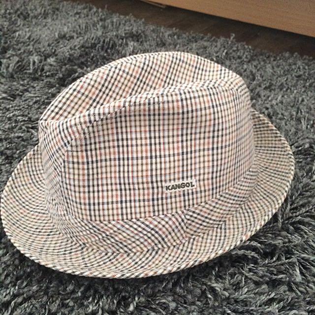 [全新] 義大利製 Kangol 格紋紳士帽 英倫西裝