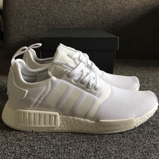 Adidas NMD US 12.5 Triple White r1