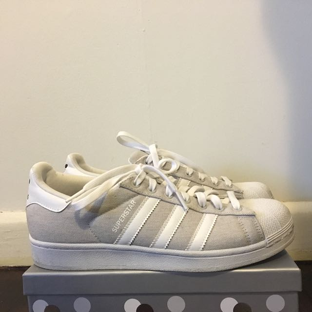 Adidas Originals Superstar Grey and White