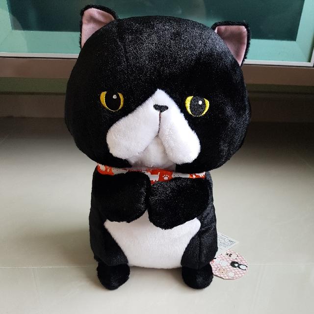 Amuse Begging Munchkin Black Cat Plush