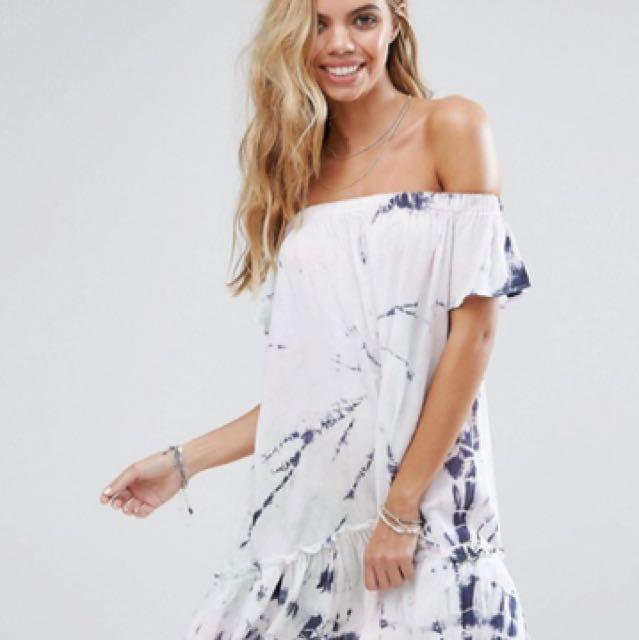 Asos Surf Gypsy off the shoulder dress