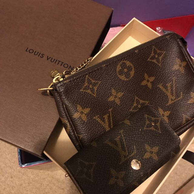 Authentic Louis Vuitton Key Holder & Small Bag