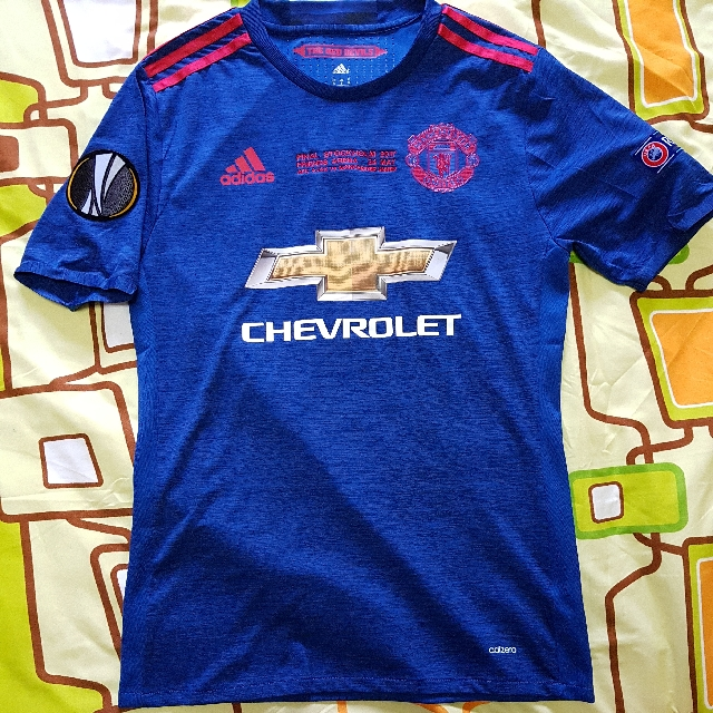18be6ac98 Authentic Manchester United 2016 17 Size S Europa League Final Away ...