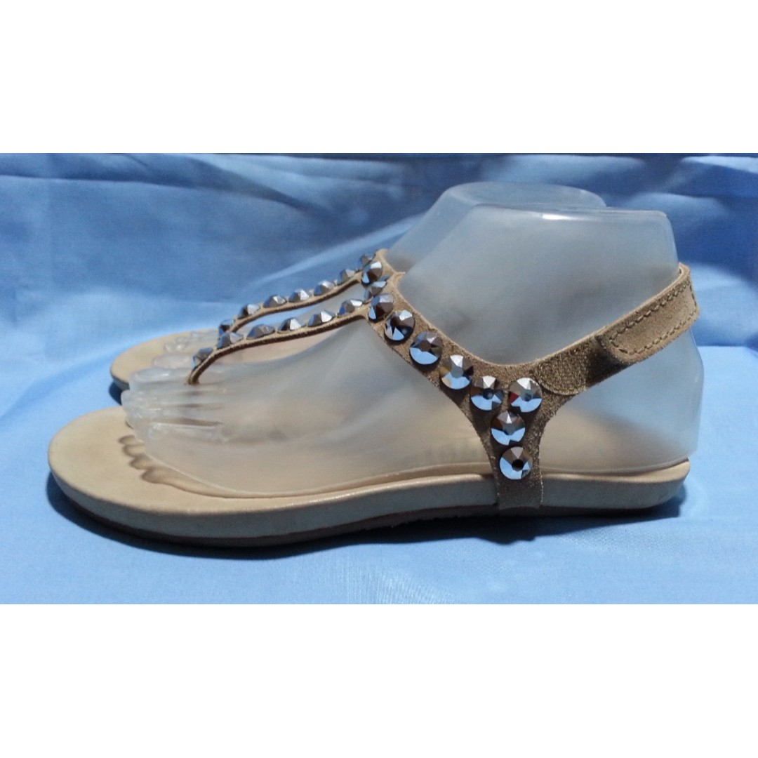 Authentic PEDRO GARCIA Embellished Thong Sandals Size 35