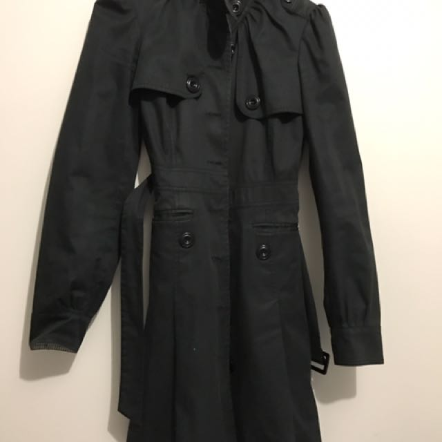 Bardot Black Trench Coat