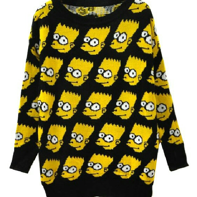 Bart Simpson Sweater Pullover Women S Fashion Clothes Dresses