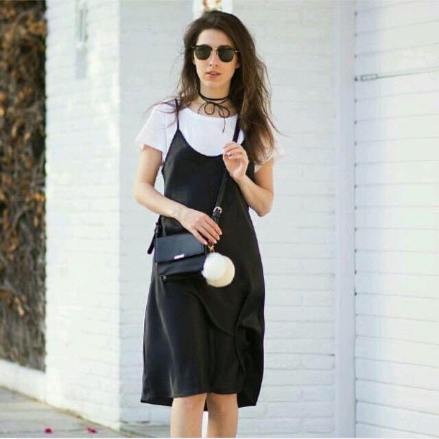 Black White Cami Dress