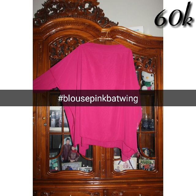 Blouse Pink Batwing