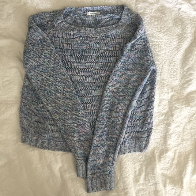 🌻blue knitted jumper