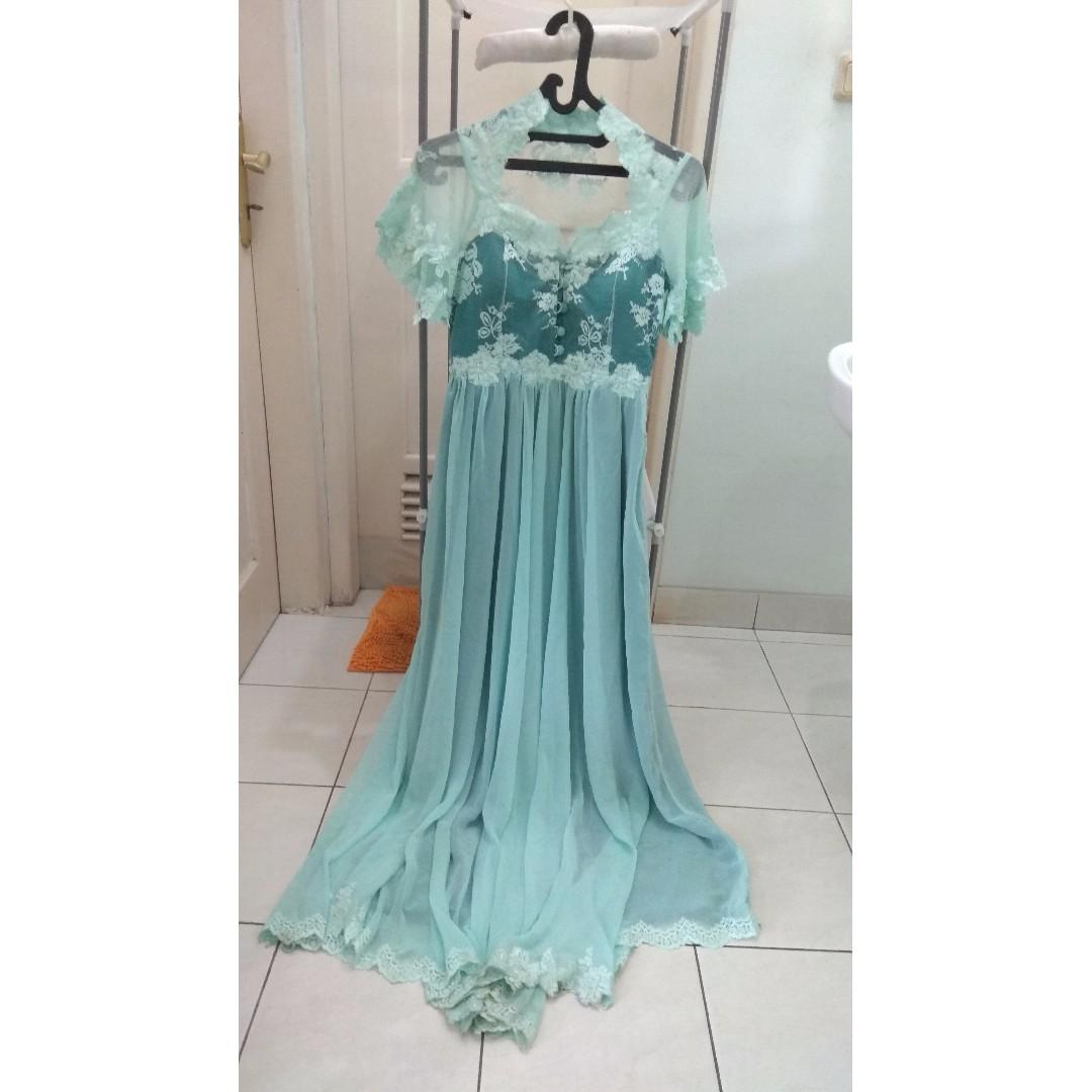 BLUE LONG DRESS #CarousellxCashBack