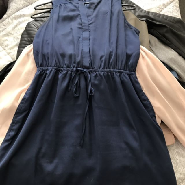 Blue Sleeveless Dress