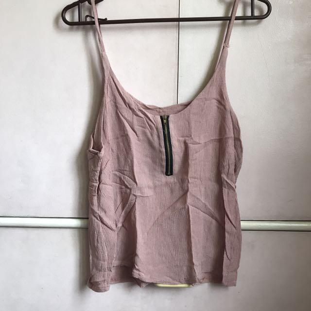 Blush pink tank top