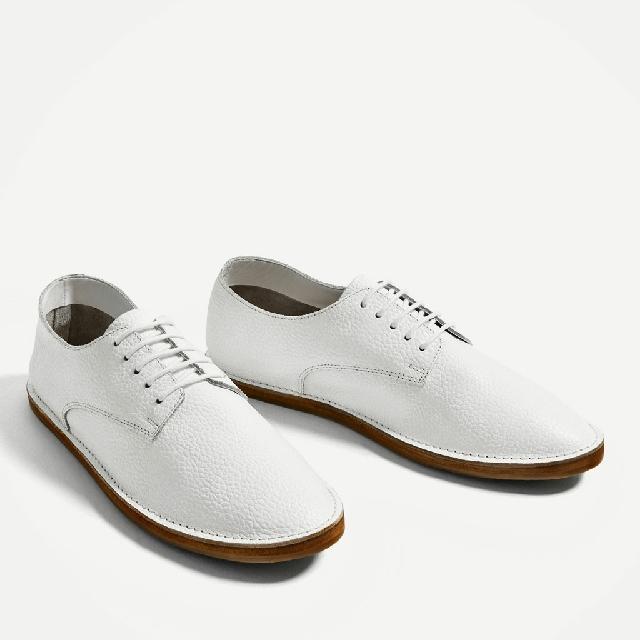 BNWT ZARA Leather Bluchers Shoes