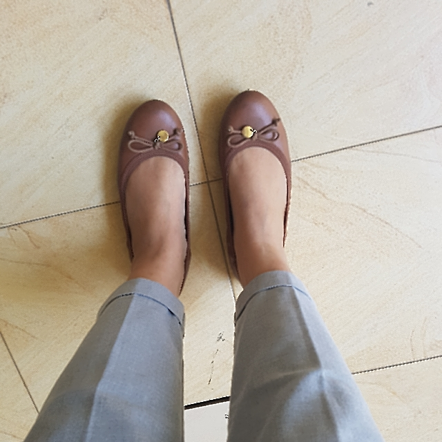 Brown Ballerina Shoes