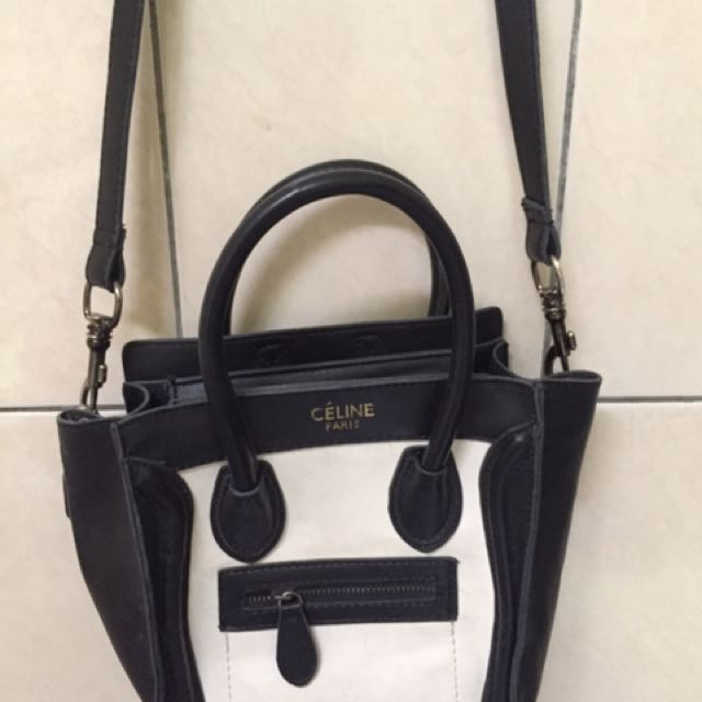 Celine Nano Black White