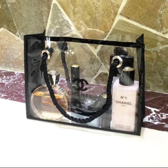 e382bfb556c55 Chanel Transparent Tote Bag New