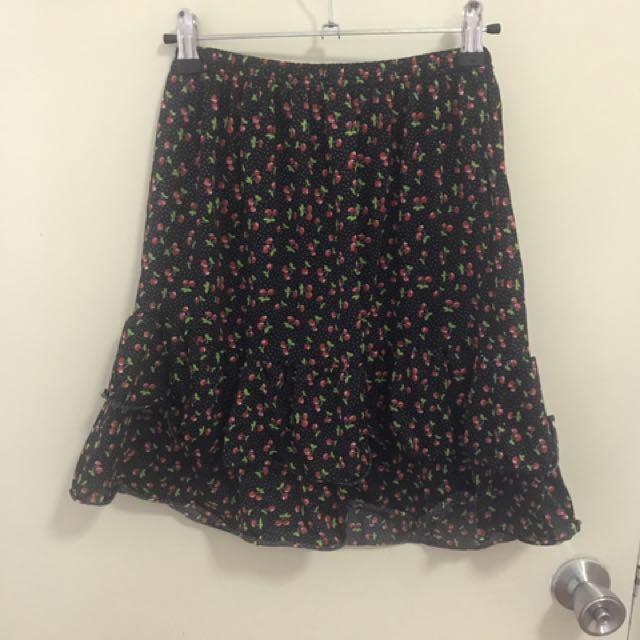 Cherry Printed Skirt