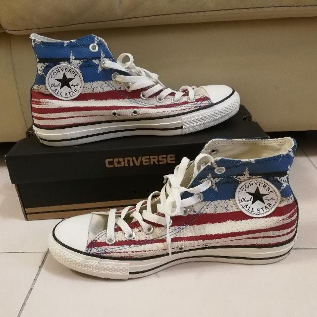 319258d5fc71 Converse All Star Graffiti Stripes American Flag Chuck