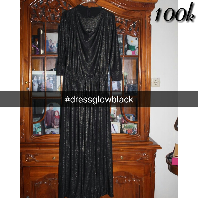 Dress Black Glowing