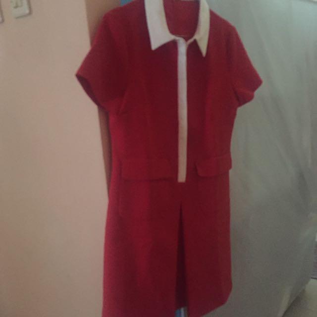 Dress Tebal Merah