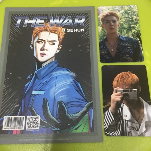 EXO THE WAR KOKOBOP PHOTOCARD SET SEHUN