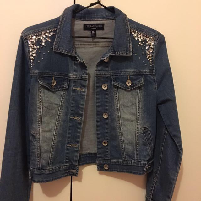 Forever new bejewelled denim jacket