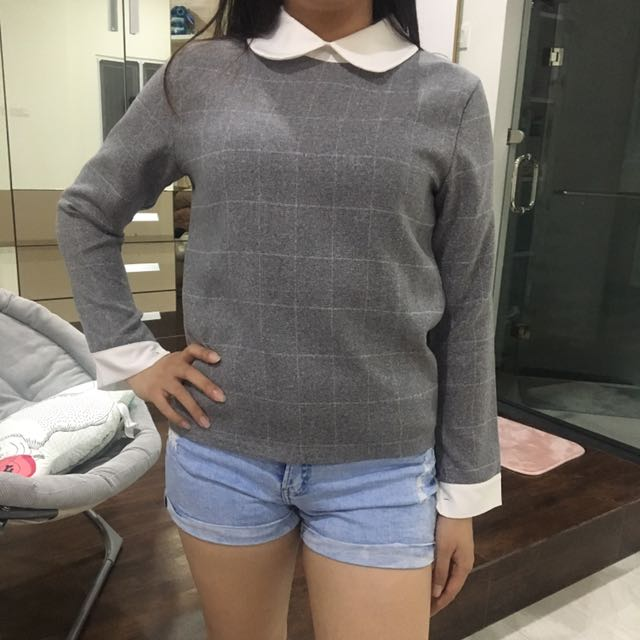 Grey Korean Top